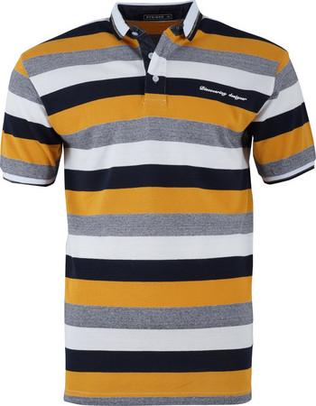 Αντρική μπλούζα ριγέ γραμμή polo.Timeless style. ΚΙΤΡΙΝΟ e10a5f365f6