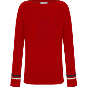 07d9eb3c50a ΠΟΥΛΟΒΕΡ TOMMY NEW IVY BOAT-NK(Red) WW0WW24394 Red. Tommy Hilfiger