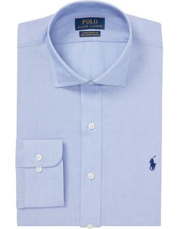 Polo Ralph Lauren ανδρικό πουκάμισο γαλάζιο Slim Fit Easy Care -  712722193001 - Γαλάζιο 6e4b955d7e7