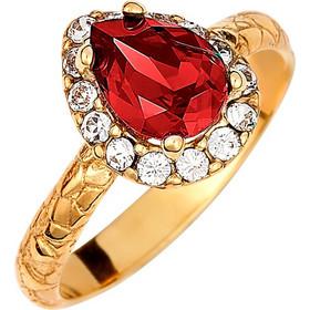Ασημένιο δαχτυλίδι ροζέτα δάκρυ 925 με κόκκινη πέτρα SWAROVSKI AD-E1213KG1 216d3a500d2