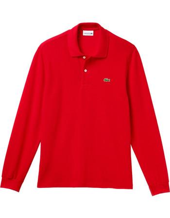 137b6fd3b784 Lacoste ανδρική μπλούζα Polo L.12.12 με μακρύ μανίκι - L1312 - Κόκκινο