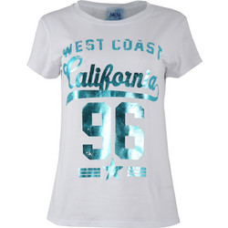 9f8688d8c44d Μπλούζα στάμπα California.Casual style. ΛΕΥΚΟ