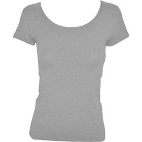 c265a047b5c9 Γυναικείο T-shirt με ανοιχτή λαιμόκοψη από modal και βαμβάκι Jadea 4181  Γκρι Μελανζέ