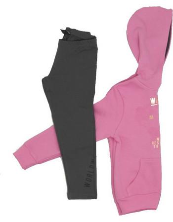 Παιδική Φόρμα Φούτερ Ζακέτα Target World Ροζ G9 14156 96832d5deff