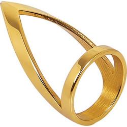 Δαχτυλίδι V από ανοξείδωτο ατσάλι - ATDA008G - Χρυσό 8851a10ce7d