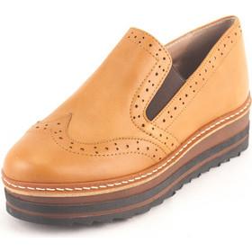 Γυναικεία Δερμάτινα Παπούτσια τύπου Oxford. Σχέδιο K200 Καφέ. Kouros 9343ced4edd