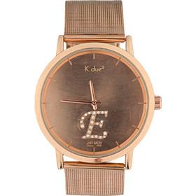 Ρολόι K.due2 με ροζ χρυσό μπρασελέ και διαμάντια (Δημιουργήστε το προσωπικό  σας ρολόι e1bc551be36