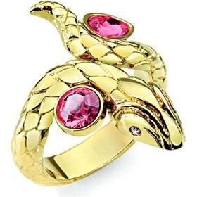 Γυναικείο Κόσμημα Δαχτυλίδι από ανοξείδωτο ατσάλι σε Χρυσό Χρώμα με Κόκκινη  πέτρα και Χρυσή λεπτομέρεια της σειράς TREASURE 31c183270b2