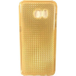 Detech Silicon Back Cover Protector Case for Samsung Galaxy S7 Gold (51365)