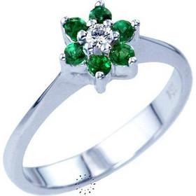 Δαχτυλίδι 18κ Με Σμαράγδια Και Διαμάντι Muse Collection 4e9dde09b57