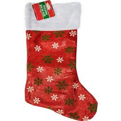 4d2eda1e5f8 Χριστουγεννιάτικη Μπότα Σε Σχέδιο Νιφάδες Χιονιού, Διαστάσεων 46x25cm - Cb