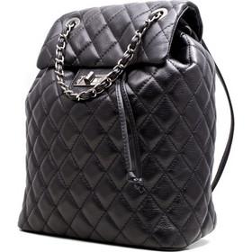 d4d10bf466 Γυναικεία δερμάτινη τσάντα πλάτης τύπου chanel καπιτονέ 53-S ΜΑΥΡΗ