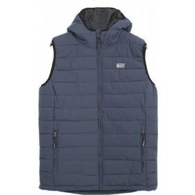 9fc8f8512be Ανδρικά Μπουφάν Basehit Αμάνικο Με Κουκούλα Mens Jackets & Coats Μπλέ  Σκούρο 182.BM10.