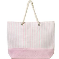 Τσάντα θαλάσσης ώμου gsecret ψάθινη φοδραρισμένη με κορδόνι. ΡΟΖ 33b867d9312