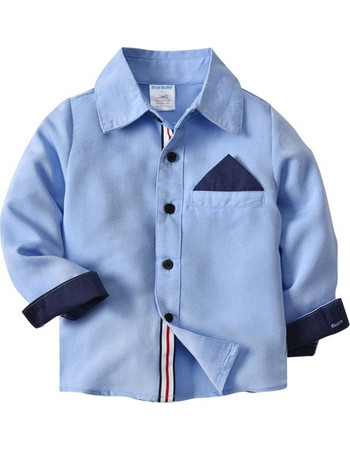 f9d29cf0121 2018 New Product Blue Boys Long Sleeved Shirt, Size: 4T SK640122