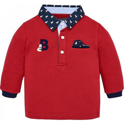 Βρεφική Μπλούζα Mayoral 18-02116-088 Κόκκινο Αγόρι f7a38f25444