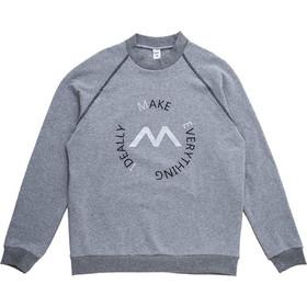 77ebbf2ea53a Ανδρική γκρι βαμβακερή μακρυμάνικη μπλούζα φούτερ MEI