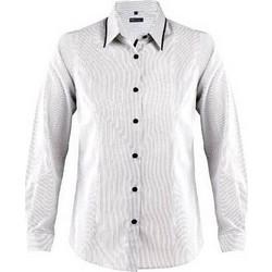 Sol s Baxter women 00569 Γυναικείο μακρυμάνικο πουκάμισο σε στενή γραμμή -  WHITE STRIPED BLACK- 59802c6ccc0
