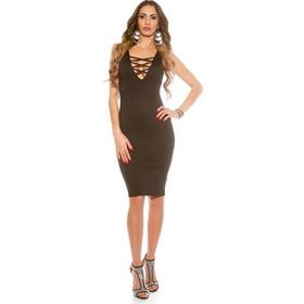 5347e47b923a 41710 FS Μίνι φόρεμα με ανοίγματα - μαύρο