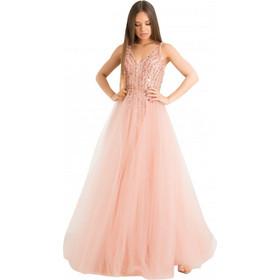 bc20f26f0527 F888023 Φόρεμα με Τούλι - ΡΟΖ 18422