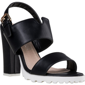 Γυναικείο Πέδιλο από Συνθετικό Δέρμα με Χοντρό Τακούνι Ύψους 12 cm από την  Envie Shoes σε c681f06a62d