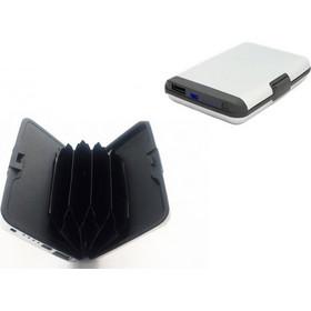 b32c1489dd Πορτοφόλι Ασφαλείας Πιστωτικών καρτών RFID   Φορητός Φορτιστής Powerbank 2  σε 1