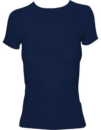 Γυναικείο T-shirt με κλειστή λαιμόκοψη από modal και βαμβάκι Jadea 4180 Navy 11a5ed8e2c4