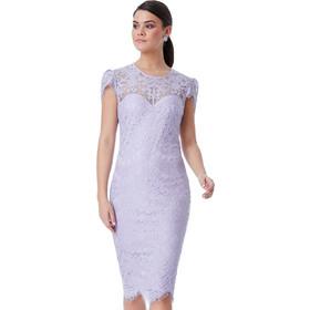 837cb350513b sophisticated midi φόρεμα chantilly δαντέλα σε λιλά