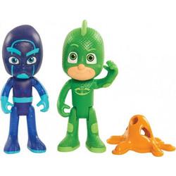 PJ Masks-Πιτζαμοήρωες  Βασική Φιγούρα Light Up 2πλή Gekko and Night Ninja  JPL24810 1a53a7b8814