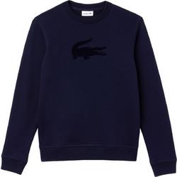 edcdf1994a9c Lacoste ανδρικό fleece φούτερ μονόχρωμο με mega logo - SH9258 - Μπλε Σκούρο
