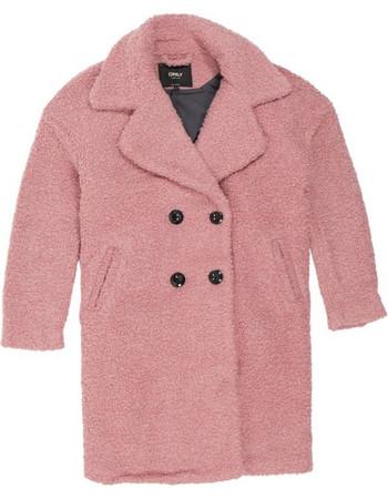 Only Paloma Boucle Long Wool Coat 15158221 Ροζ b57a957a816