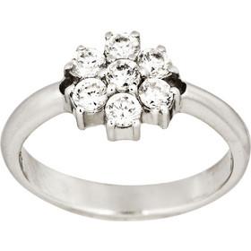 Δαχτυλίδι Ροζέτα Λευκό Χρυσό 14 Καρατίων Κ14 με Πέτρες Ζιργκόν 003066 6bea6192d1e