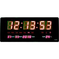 Μεγάλο Ψηφιακό Ρολόι - Πινακίδα LED με Θερμόμετρο και Ημερολόγιο TL3515 879293e3f7e