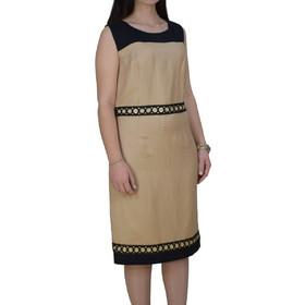 2f6cb5fdca21 Λινό Φόρεμα Με Επιπλέον Μανίκια Vagias 9605-15 Μπεζ vagias 9605-15 mpez