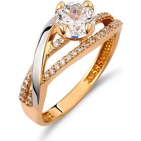 Μονόπετρο Σειρέ Χρυσό Καιamp Λευκόχρυσο Με Ζιργκόν - 002049 f14dbd07a65