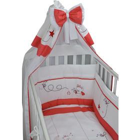 6d6af009b23 Προίκα Μωρού σετ 4 τμχ. (κουνουπιέρα-πάντα-πάπλωμα-παπλωματοθήκη) Red