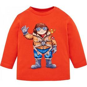 Βρεφική Μπλούζα Mayoral 18-02034-062 Πορτοκαλί Αγόρι 864620273fa