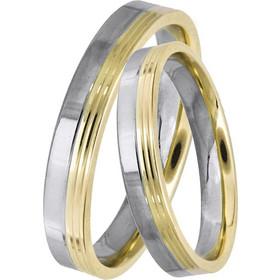 Δίχρωμες βέρες γάμου 14Κ 025030 025030 Χρυσός 14 Καράτια μεμονωμένο τεμάχιο e4a3b0882f8