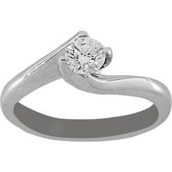 Δαχτυλίδι μονόπετρο λευκόχρυσο 18 καράτια με μπριγιάν 0.33ct f7b76049083
