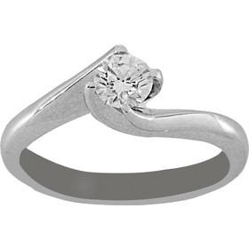 Δαχτυλίδι μονόπετρο λευκόχρυσο 18 καράτια με μπριγιάν 0.33ct a317d722c64