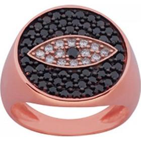 Δαχτυλίδι Chevalier Senza Από Ασήμι Rosegold Με Μάτι ZK734 0df66cce24f