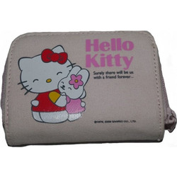 43e58d07b5 Πορτοφόλι υφασμάτινο ρόζ Hello Kitty Hug Friends original