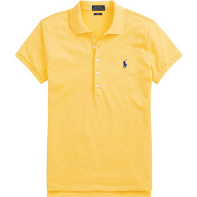 ddbf30c5f2cc Polo Ralph Lauren γυναικεία μπλούζα Polo με χρωματιστό λογότυπο Slim Fit -  211505654127 - Κίτρινο