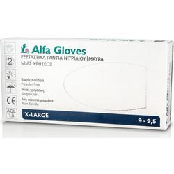 ALFA GLOVES - Εξεταστικά Γάντια Νιτριλίου μιας χρήσης ΜΑΥΡΑ Extra Large -  100τμχ 0074f6465f6
