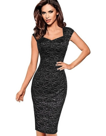 Female European and American V Neck Lace Printed Dress Graceful Slim Pencil  Skirts One-step 3f43c0b76bd
