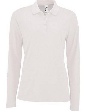 Sol s Perfect LSL Women Λευκό 02083 Γυναικείο μακρυμάνικο πόλο πικέ -  WHITE-102 f7c818a0b62