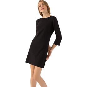 9b307ef290c0 Mini πλεκτό φόρεμα σε ίσια γραμμή - Μαύρο