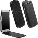 Krusell Leather Slimcover Tumba Vintage Black (Galaxy S III)