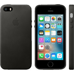 APPLE iPhone SE Leather Black - (MMHH2ZM/A)
