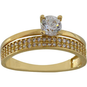 Δαχτυλίδι μονόπετρο χρυσό 14 καράτια με ζιργκόν 4 χιλιοστά 9ab240691c7